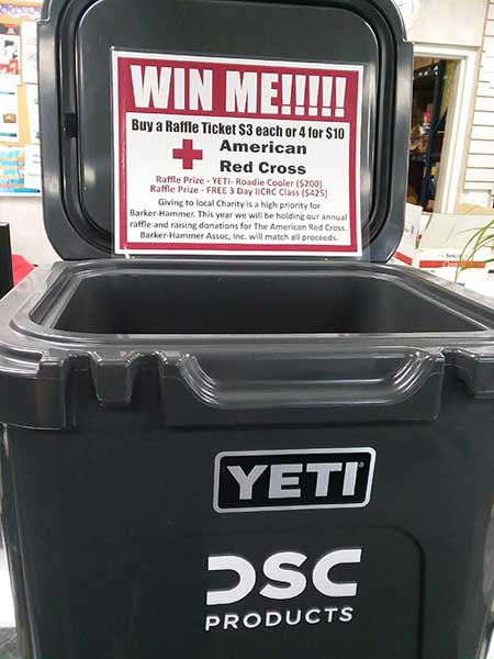 Red Cross Charity Raffle Yeti Cooler